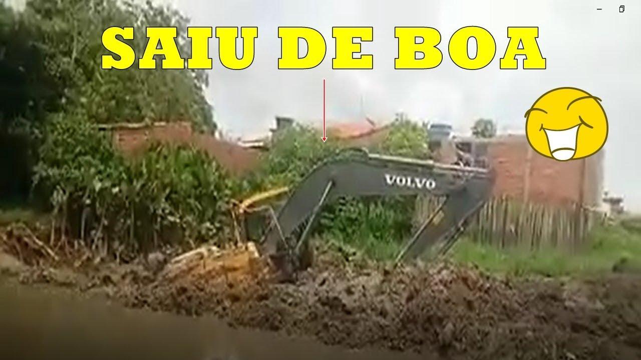 OPERADORES BONS NA ENXADA SERVIÇOS TOP´S + VOLVO DESATOLANDO DO BREJO