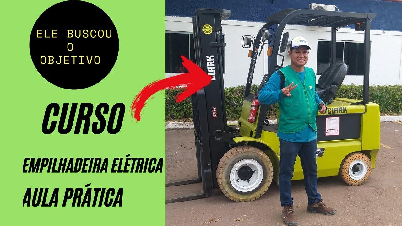 ELE SAIU DE OUTRA CIDADE PRA FAZER O CURSO PARA OPERADOR DE EMPILHADEIRA ELÉTRICA!